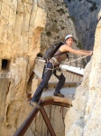 The Camino del Rey on New Years day
