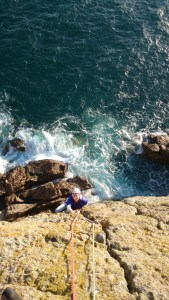 Seconding sea cliffs in Cornwall