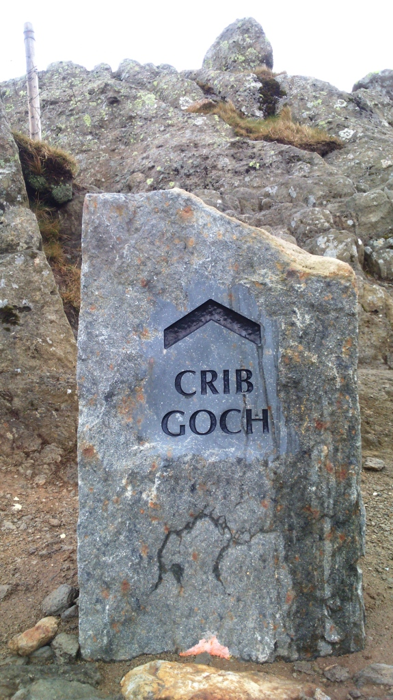 Leaving the tourist trail to start the scramble to Crib Goch