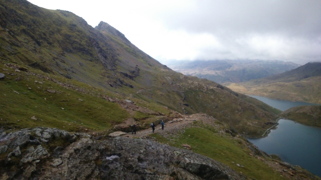 Lovely long downhill of the Pyg track