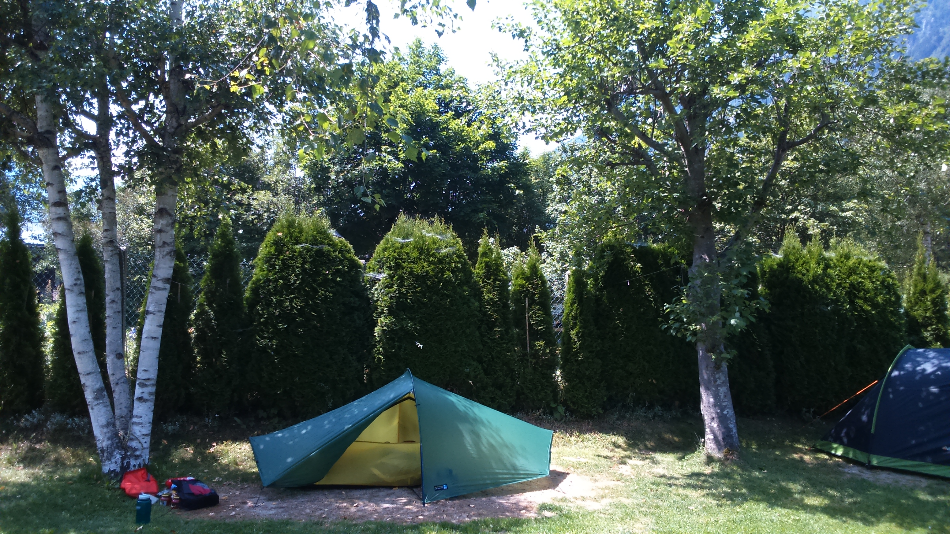 Students On Camping Tmb