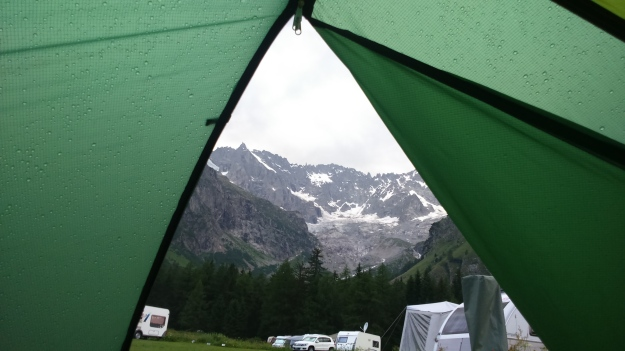 Best view in the house of an electrical storm at Camping des Glaciers, La Fouly