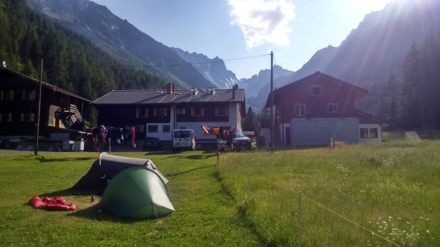 Camping at Relais d' Arpette