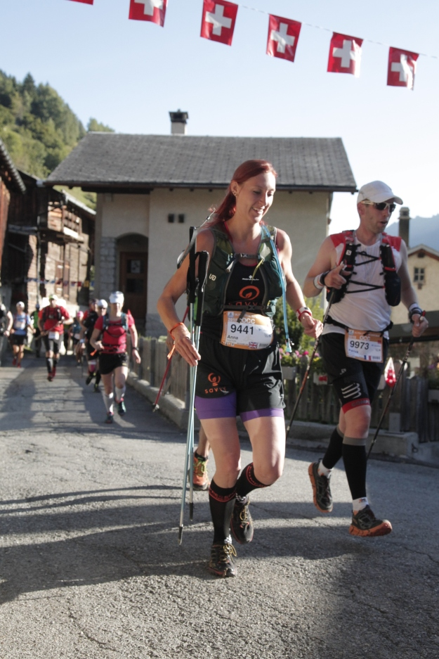 Running through a Swiss village to the sound of cow bells